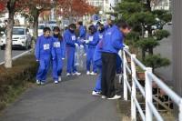 学校前の歩道