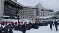 スキー研修 開校式の様子