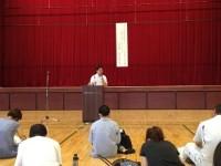 長井先生の講話の様子