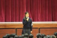 新生徒会長の田代さん(2F4 松橋中)の開会宣言から始まりました